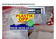 Plastik Opp Seal Lubang O8385636511O[wa]