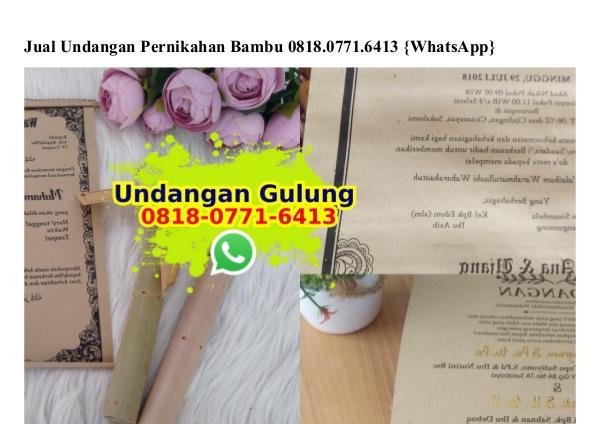 Jual Undangan Pernikahan Bambu 08I8–077I–64I3[wa] jual undangan pernikahan bambu