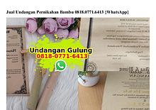 Jual Undangan Pernikahan Bambu 08I8–077I–64I3[wa]