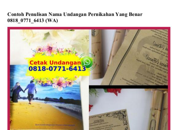 Contoh Penulisan Nama Undangan Pernikahan Yang Benar 08I8~077I~64I3[w contoh penulisan nama undangan pernikahan yang ben