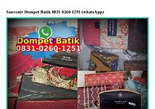Souvenir Dompet Batik 083I 0260 I25I[wa]