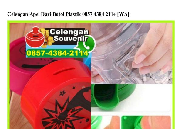 Celengan Apel Dari Botol Plastik Ö857–4384–2114[wa] celengan apel dari botol plastik