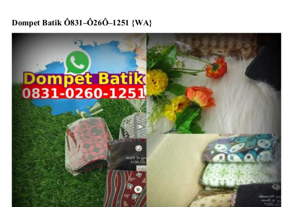 Contoh Kartu Ucapan Terimakasih Di Souvenir O818.22.5376 [WhatsApp] dompet batik