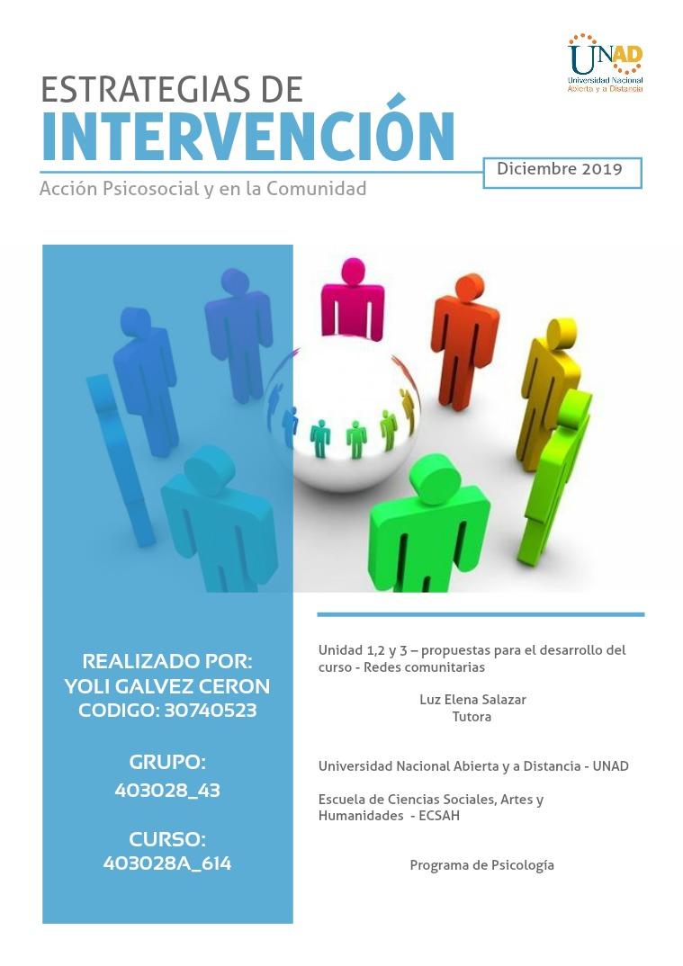 Estrategias de intervención 1