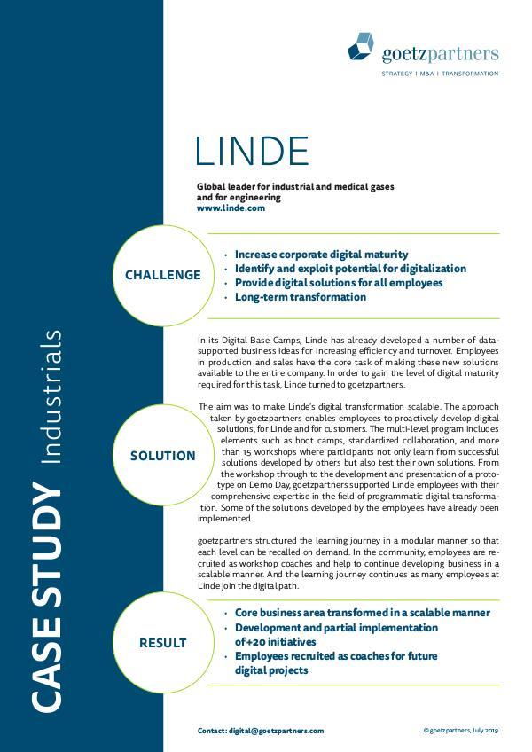 Client Case: Linde