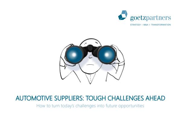 Study: Automotive Suppliers 2017