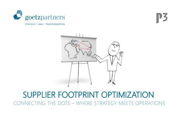 Brochure: Supplier Footprint Optimization