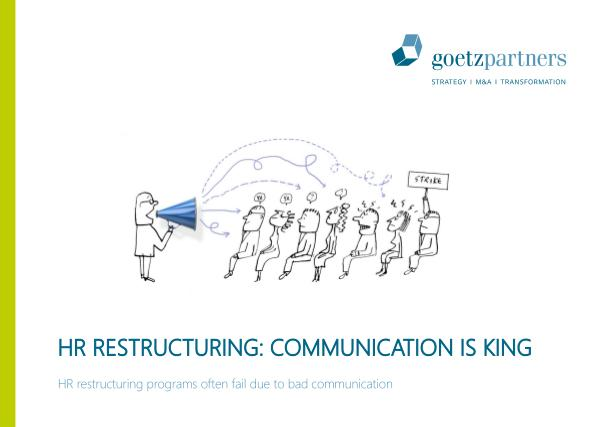 Brochure: HR Restructuring Communications