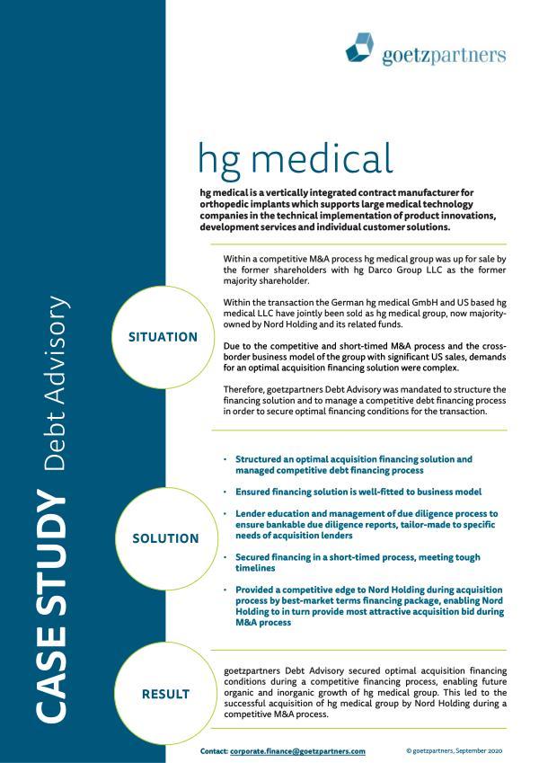 Client Case: hg medical