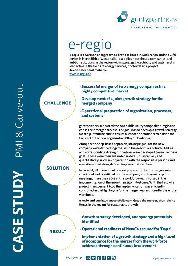 Client Case: e-regio