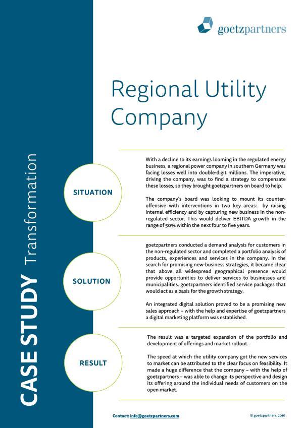 Client Case: Regional Utility Company