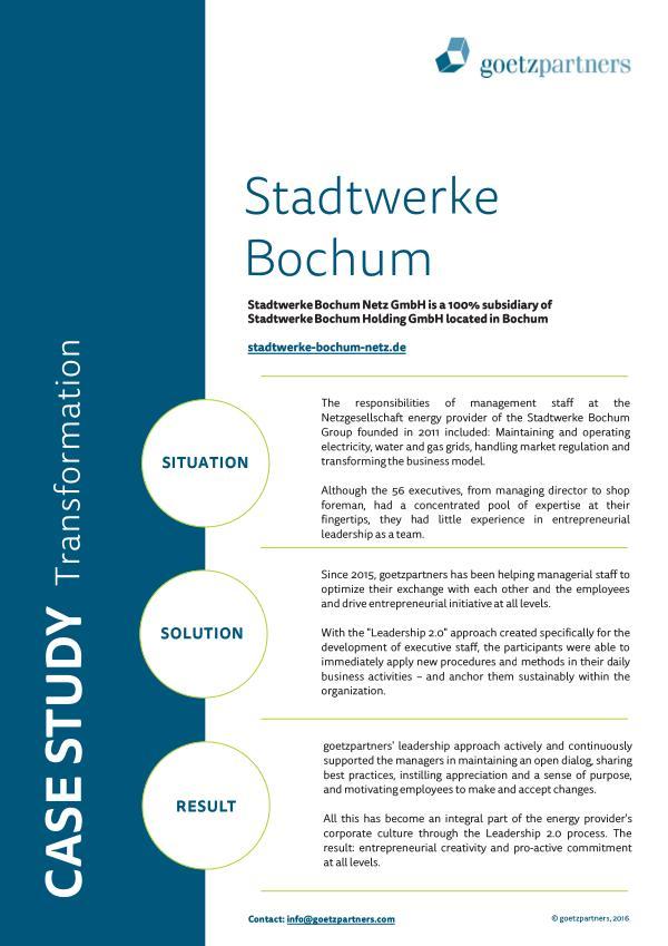 Client Case: Stadtwerke Bochum
