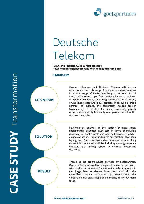 Client Case: Deutsche Telekom