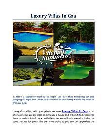 Luxury Villas, Pool Villas On Rent Goa, North Goa | Luxury Villas In