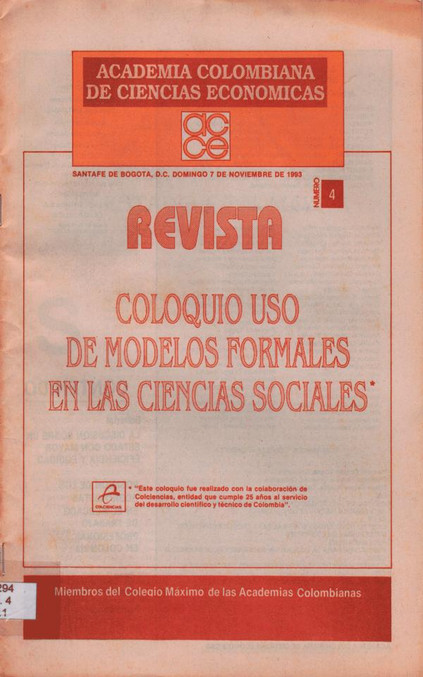 Revista Academia colombiana de Ciencias Económicas Revista ACCE #04