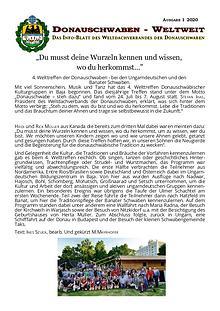 INFO - BLATT DONAUSCHWABEN WELTWEIT 2020-01