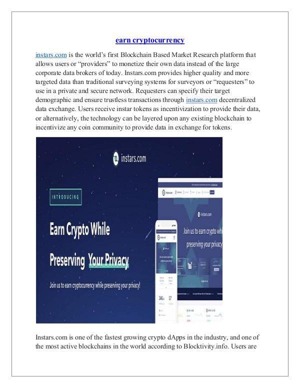instars.com earn cryptocurrency