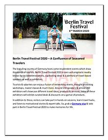 Berlin Travel Festival 2020 – A Confluence of Seasoned Travelers