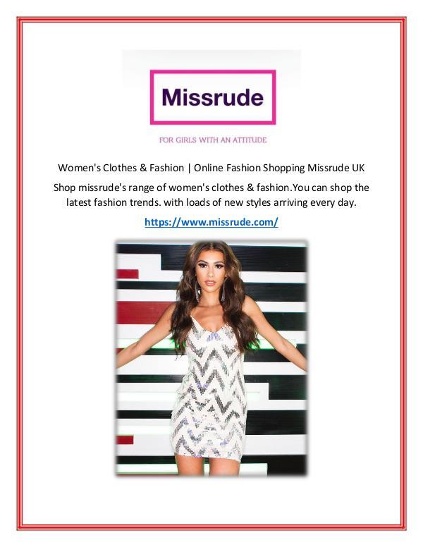 women's clothes missrude clothes