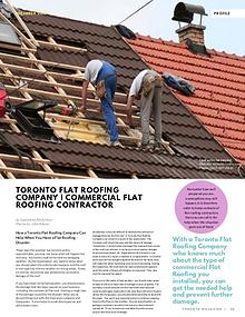 How a Toronto Flat Roofing Company Can Help When You Have a Flat Roof