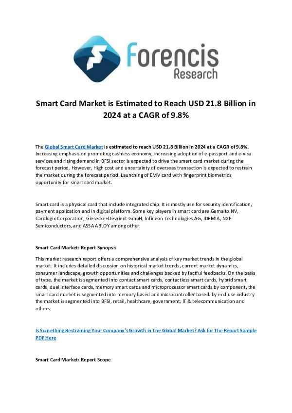 Forencis Research Smart Card Market