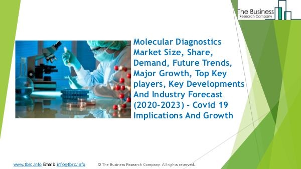 The Business Research Company Molecular Diagnostics Market Global Report 2020