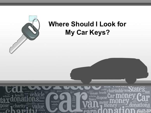 Car Key Replacement Where Should I Look for My Car Keys