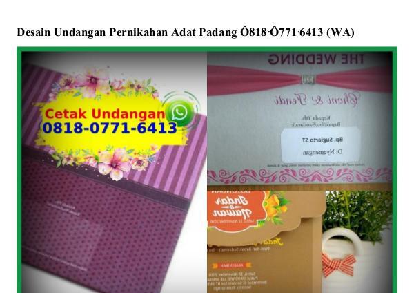 Desain Undangan Pernikahan Adat Padang 0818•0771•6413[wa] desain undangan pernikahan adat padang