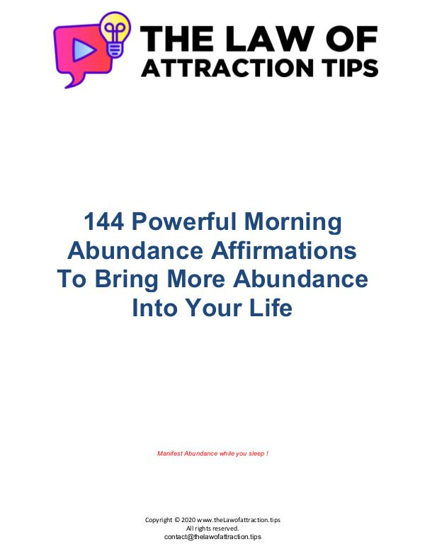 140+ Powerful Morning Abundance Affirmations 144_Abundance_Affirmations_thelawofattraction.tips