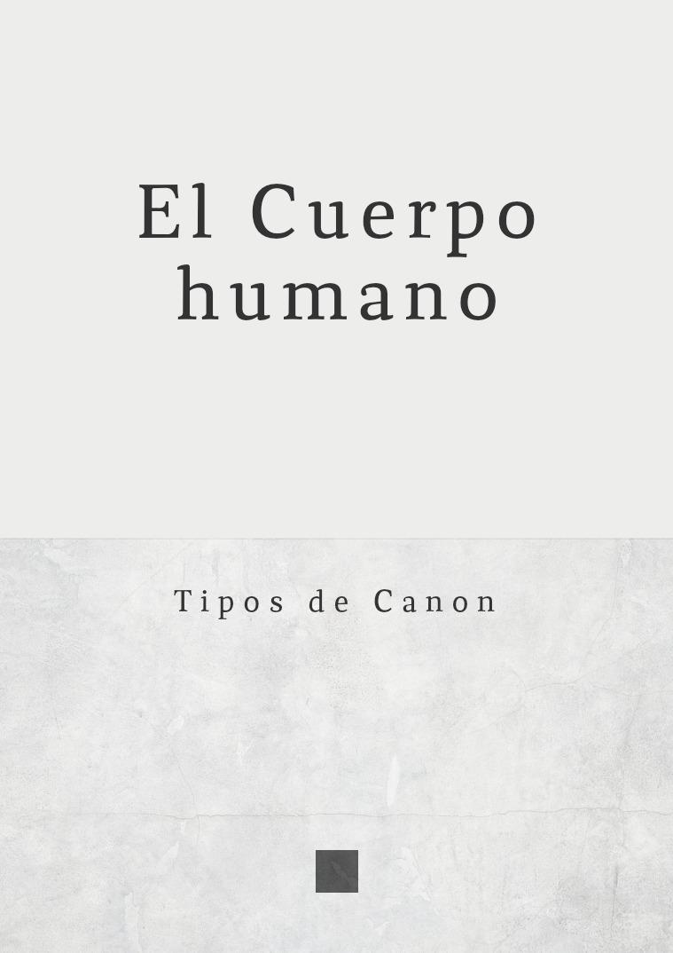 Canon del Cuerpo Humano Canon Cuerpo Humano