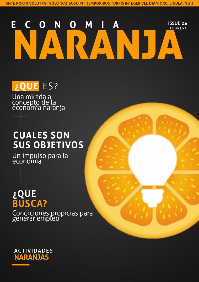 ECONOMIA NARANJA economia Naranja
