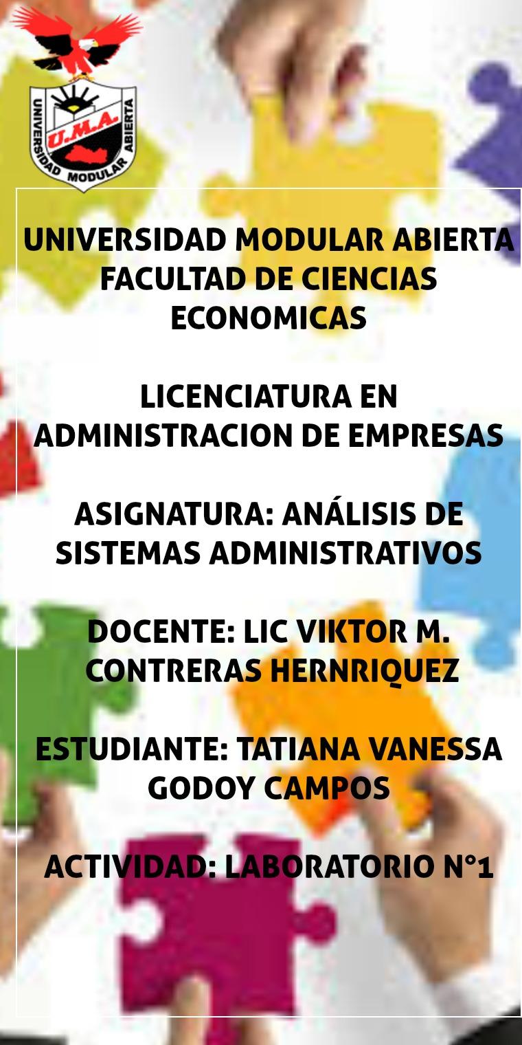 ANALISIS DE SISTEMAS ADMINISTRATIVOS Análisis De Sistemas De Administración