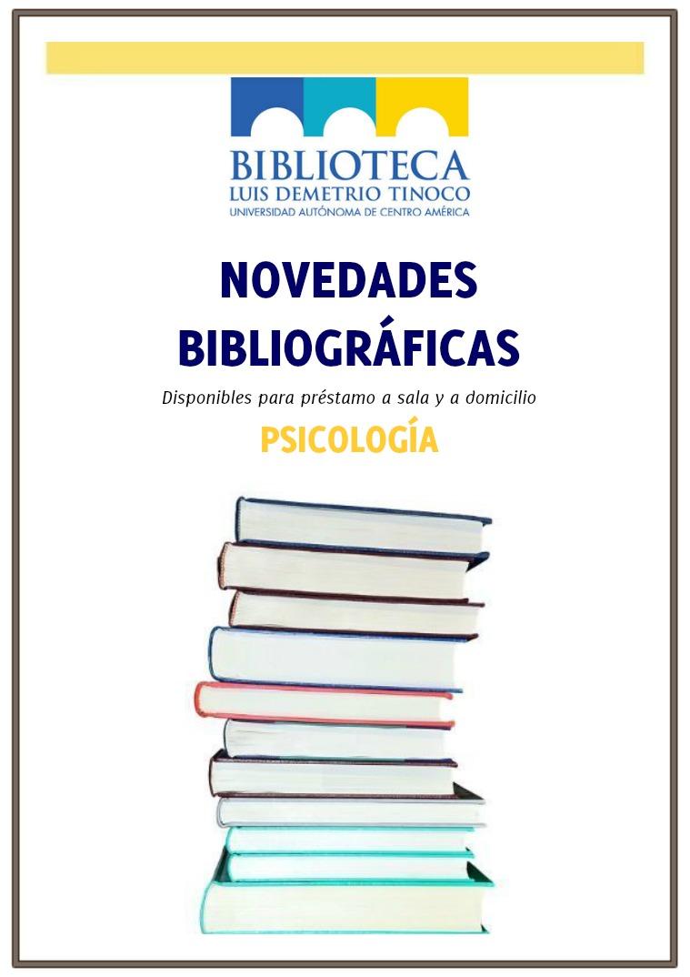 Novedades bibliográficas del mes 12 portadas de libros nuevos sobre Psicología.