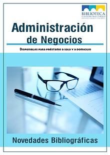 Novedades bibliográficas Administración
