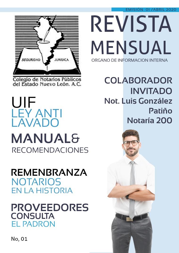 Revista Colegio Notarios NL (Prueba) 01