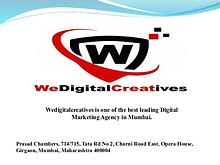 Social Media Marketing Agency Mumbai | Wedigitalcreatives