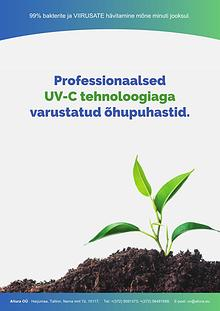 Professionaalsed UV-C  õhupuhastid - UV lambid Eesti