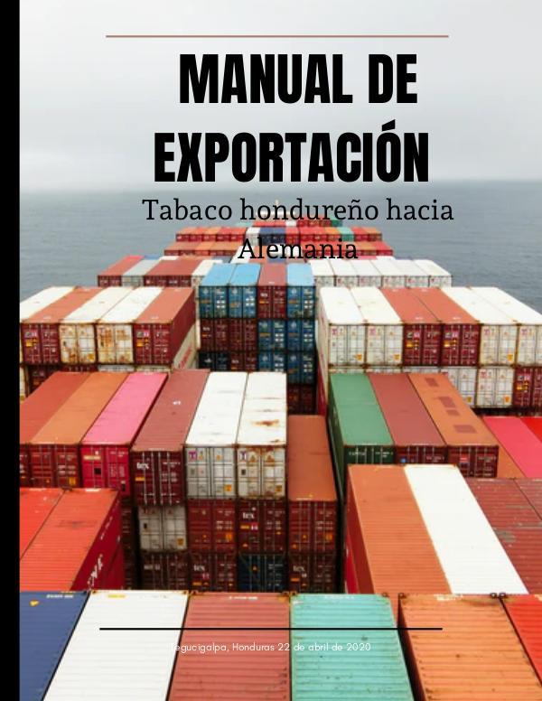 MANUAL DE EXPORTACIÓN Manual de exportación Honduras-Alemania (4)