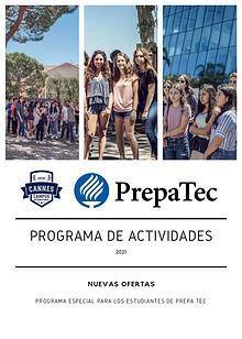 Programa de Actividades : Campus International de Cannes / Prepa Tec