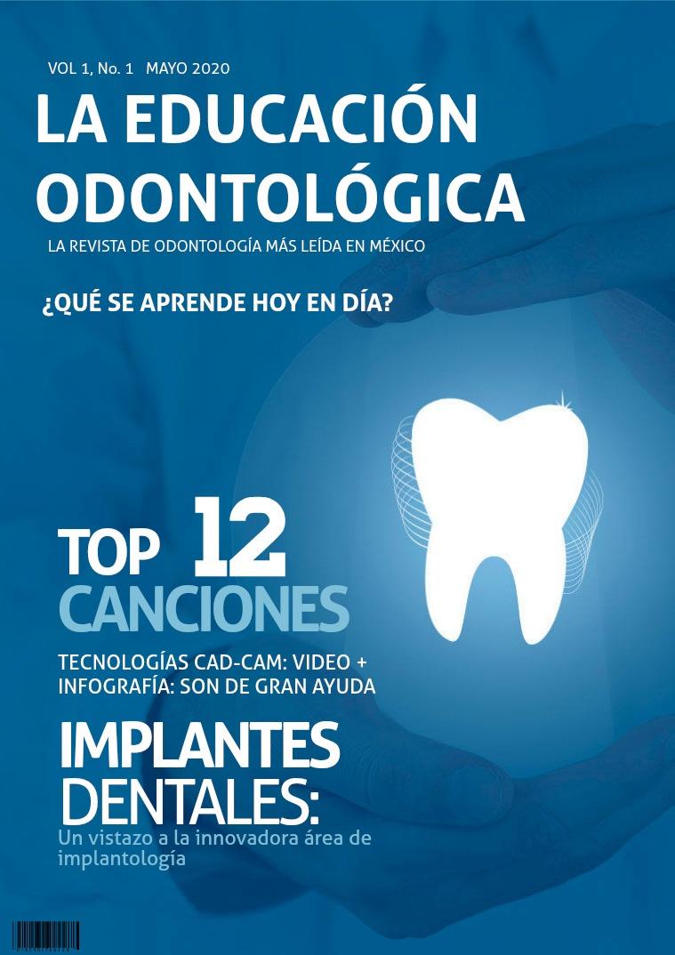 La educación odontológica actual Mayo 2020