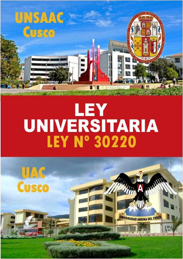 NUEVA LEY UNIVERSITARIA - ANR Nueva Ley Universitaria - ANR Perú