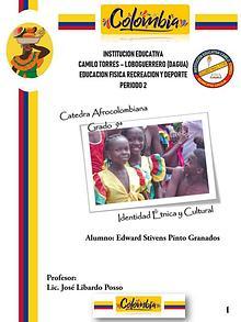 CATEDRA AFROCOLOMBIANA GRADO  9ª IDENTIDAD ÉTNICA Y CULTURAL