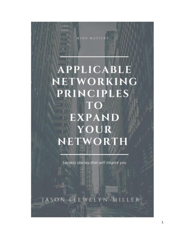 Applicable Networking Principles To Expand Your Ne 1